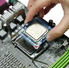 Установка процессора на материнскую плату